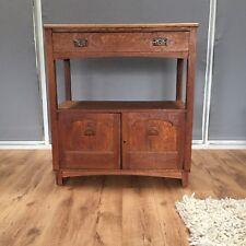 Arts & Craft Oak Dresser with Carved door Panels