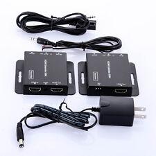 164ft 50m HDMI Extender Sender Receiver via IR Cat6/5 LAN Transmitter 3D 1080P