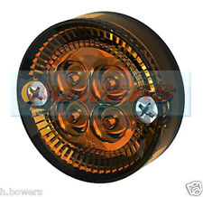 SIM 3194 12V/24V 42mm SCREW ON LED ROUND AMBER ORANGE SIDE MARKER LAMP/LIGHT