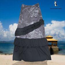 SHARON TANG Modest Apparel Long Gray Black Ruffle Layer Skirt M ST124081008-16
