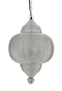 Marrakech Silver - Matki Pendant-Mesh Etching-Medium
