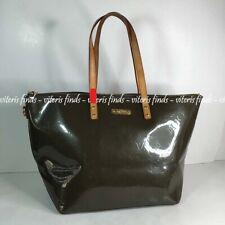 Authentic Louis Vuitton Bellevue GM Bronze Monogram Vernis Leather Tote Handbag
