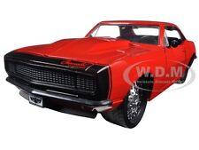 1967 Chevrolet Camaro Glossy Red Matt Black 1/24 Diecast Model Car By Jada 97170