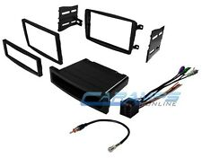01-04 C-CLASS CAR STEREO RADIO DASH INSTALLATION TRIM KIT BEZEL W WIRING HARNESS