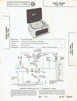 ORIGINAL Zenith Record Player YP6B + service Manual PHOTOFACT SCHEMATIC /SM216
