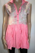 PAPER HEART Brand Pink Collared Open V Back Mini Dress Size 10 BNWT #TR37