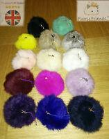 Pompom Keyring Keychain Vintage Satchel Handbag Charm Real Fur Cute Ball SS2015