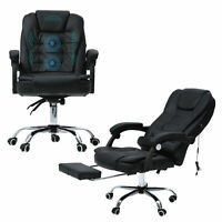 Gaming Chair Massage Reclining Swivel Office Chair Desk Computer Ergonomic