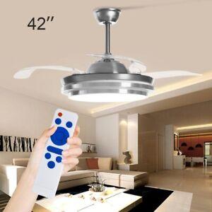 42'' Ceiling Fan Light with Lighting LED Light Adjustable Wind Speed Remote