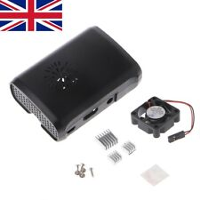 Pi Box ABS Case with Fan Module for Raspberry Pi 3/2/b plus with 3pcs Heat Sink