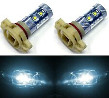 LED 50W PSX24W 2504 White 6000K Two Bulbs Fog Light Replacement Lamp OE Fit