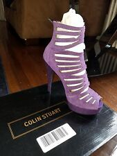womens colin stuart plum leather heels size 7