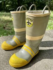 """Total Fire Group Fire Fighting Rescue Aircraft Boots Men 11 W NFPA 16"""" Steel Toe"""