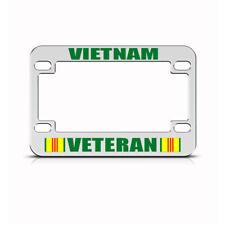 Metal Bike License Plate Frame Vietnam Veteran Heavy Duty Motorcycle Accessories
