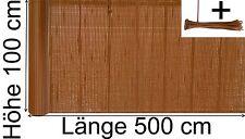 PVC Sichtschutzmatte Sichtschutzzaun Windschutz Balkonschutz 100 x 500 cm braun
