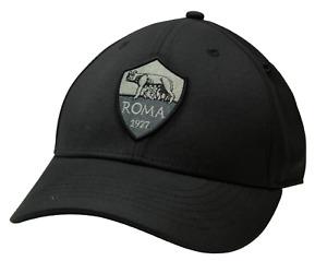 A.S Roma Football Club Italian Soccer Team Black Strap back Hat