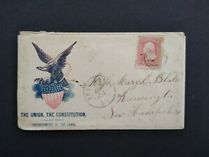 Civil War: Port Royal, SC 1863 #65 Union Occupied Patriotic Cover to NH