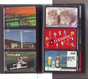 Japan 1990s Collected Album of Japanese Phone Cards 100 + Cards in Wallet SENNA