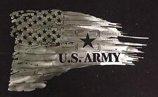 Torn American battle flag, Army 4 feet long