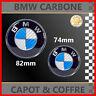 *** LOGO EMBLEME CARBONE BLEU/BLANC BMW 82mm & 74mm CAPOT ET COFFRE ***