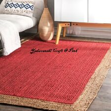 Indian Jute Reversible Decorative Handmade Runner Floor Braided Home Carpet Rugs