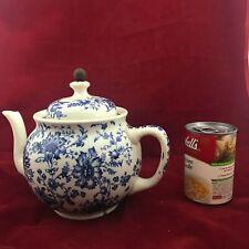 Antique Buffalo China Blue/White Tea Ball Teapot (With Half Metal Tea Ball)