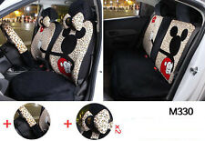 13pc/ set Plus Cartoon Mickey Mouse universal car seat cover leopard print  M330