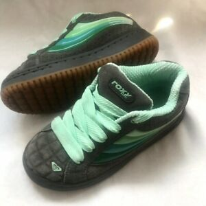Roxy chunky skate shoes/ trainers in grey & mint green. Size 5UK