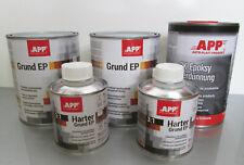 Pack Apprêt epoxy primaire 2kg + durcisseur 0,4kg gris app + 1l diluant epoxy