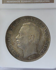 1913G Germany Baden 5 Mark NGC MS63 Low Mintage & Population, Appealing Luster