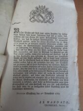 Documents en allemand Alsace Strasbourg Révolution française Trombert
