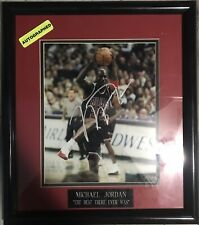 Michael Jordan Signed Autographed Framed Photo W/ Certificate of Authenticity