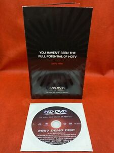 RARE HD DVD 2007 DEMO DISC & PROMO LEAFLET