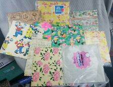 Vtg Vintage 10 sheets 1960-70s Birthday Girl Clown others Gift wrap