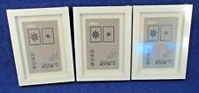 """3 Ikea Ribba White Wood Picture Frames 5x7"""" or 4x6"""" with Mat New, Sealed"""