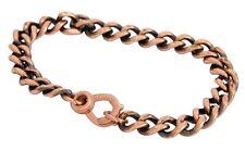 Apex Copper Bracelet Medium Link Band Pain Relief Men Women Solid Arthritis Hand