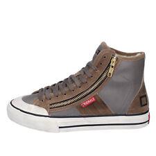 scarpe donna D.A.T.E. ( date ) 38 sneakers grigio marrone pelle camoscio AB476-E