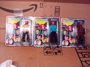 Mego Star Trek Figures Kirk, Spock, Klingon Sealed