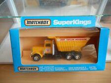 Matchbox Superkings K-105 Peterbilt Tippertruck Taylor Woodrow in Yellow in Box