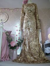 Monsoon Rose Gold sequin maxi dress size 18 New Tags