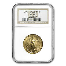 1/2 oz Gold American Eagle Coin - Random Year - MS-69 NGC