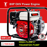 """New 2 Inch 2"""" Petrol High Flow Water Transfer Pump Fire Fighting Irrigation"""