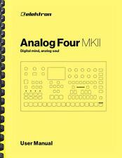 Elektron Analog FOUR MKII Synthesizer OWNER'S USER MANUAL
