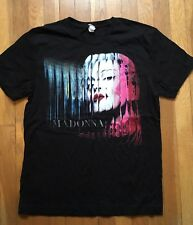 Madonna Tamaño Mediano Negro el MDNA gira de conciertos Camiseta de manga corta Camiseta BP