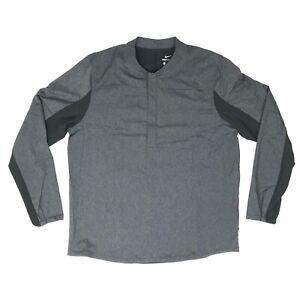 Nike Golf Mens Shield 1/2 Zip Pull over Repel Jacket Grey/Black 892211 010 XL
