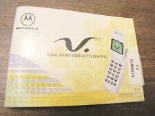MANUALE cartaceo originale phone MOTOROLA CELLULARE V50 V 50 telefono COME NUOVO