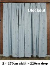 A Pair of New Grey Blockout Curtains 540cmX220cm Drop