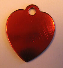 Small heart anodized aluminum pet ID Tag, cats/dogs tags free custom engraving
