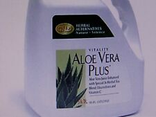 Aloe Vera Plus Juice enhanced with Special 3x Herbal Tea Blend by GNLD, 96 fl.oz