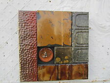 """12"""" Pieced Square Antique Ceiling Tin Wall Art by Lori Daniels in Fall Colors"""